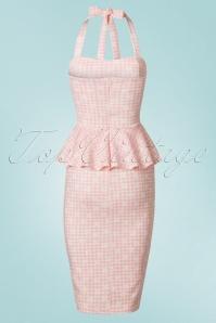 Vintage Chic Marcella Halterneck Pink Daisy Dress 100 29 21003 20170425 0007W