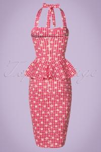 Vintage Chic Marcella Halterneck Red Daisy Dress 100 27 21004 20170425 0005W
