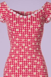 Vintage Chic Daisy Checked Red Pencil Dress 102 27 21002 20170425 0001V