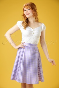 50s Tammy Gingham Skirt in Lilac
