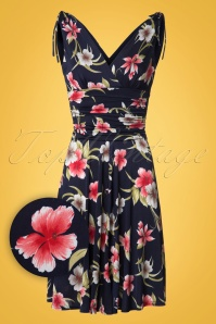 Vintage Chic Grecian Floral Blue Dress 102 39 18566 20160426 0009W1