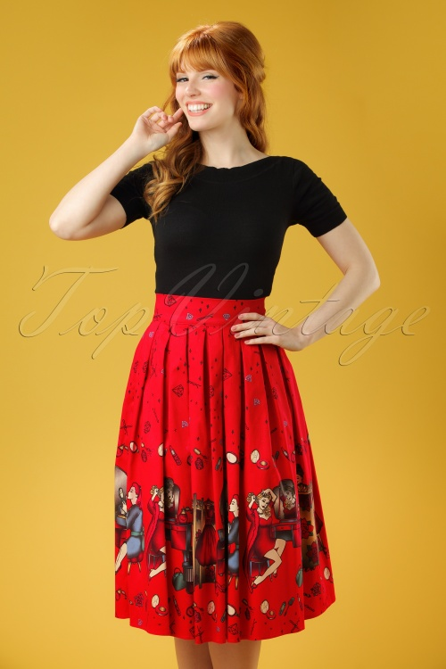 Dancing Days by Banned Meadows Red Skirt 122 27 20954 20170320 0008W