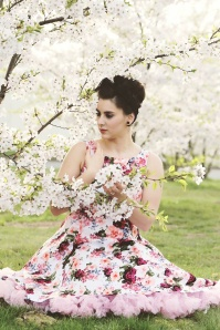 Hearts and Roses  White Floral Swing Dress 102 59 20156 20170112 01