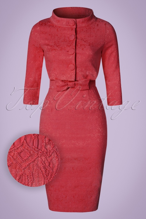 Lindy Bop Maybelle Red Lace Pencil Dress 100 20 21223 20170403 0011W1