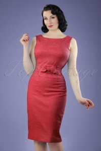 Lindy Bop Maybelle Red Lace Pencil Dress 100 20 21223 20170403 0015W