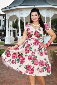 Lady Volotuous Ursula Rose swing Dress 21790 6