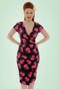 Lindy Bop Floral Pencil Dress 100 14 21243 20170501 1