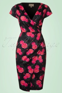 Lindy Bop Floral Pencil Dress 100 14 21243 20170501 0001W