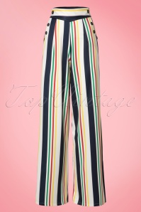 Vixen Hailey White Striped Trousers 131 59 20484 20170310 0006W