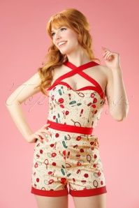 Dancing Days by Banned Sybil Beige Make up Playsuit  132 89 17807 20160330 0009W