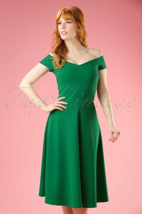Vintage Chic Green Swing Dress 102 40 21758 20170410 0005W