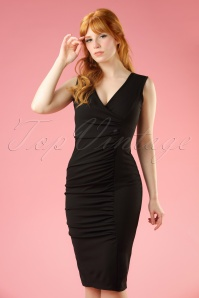 50s Janice Pencil Dress in Black