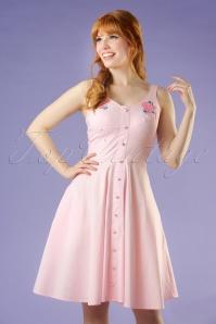 50s Lorelei Swing Dress in Pastel Pink