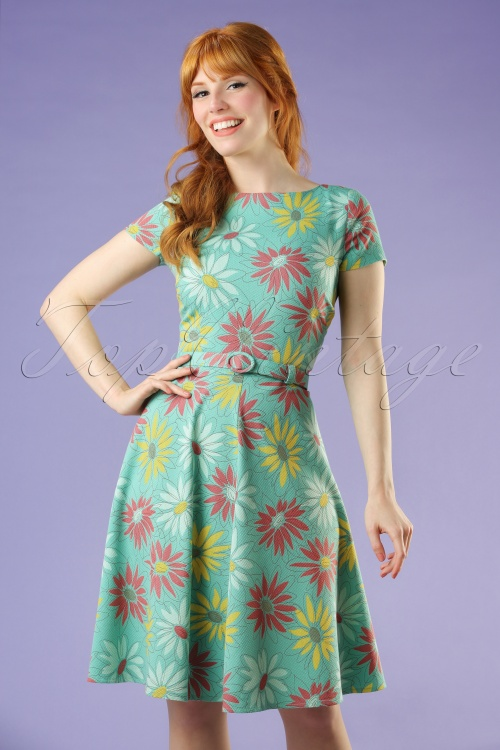 King Louie Green Floral Betty Dress 102 49 20266 20170221 0009W