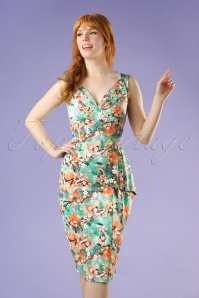Vixen Jessa Green Floral Dress 100 49 20453 20170308 0012W