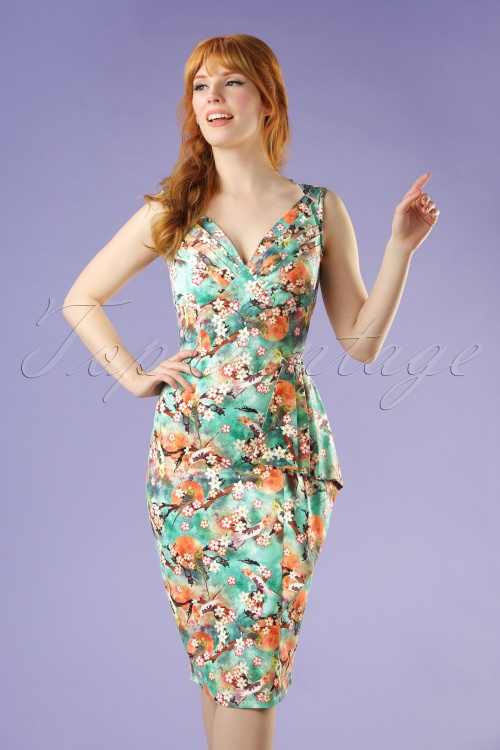 Vixen Jessa Green Floral Dress 100 49 20453 20170308 0012W