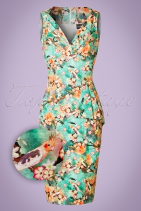 Vixen Jessa Green Floral Dress 100 49 20453 20170308 0004wv
