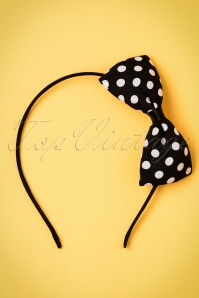 ZaZoo Black Polka hairband 208 14 21896 04262017 002W
