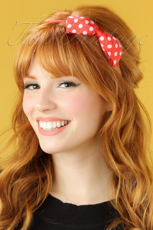 ZaZoo Red Polka hairband 208 27 21897 04262017 model01W