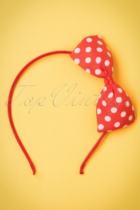 ZaZoo Red Polka hairband 208 27 21897 04262017 002W