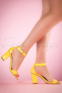 50s Mary Jane Pump in Yellow