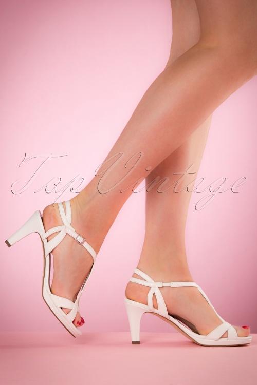 Tamaris White matt Sandals 401 50 21024 05032017 003W