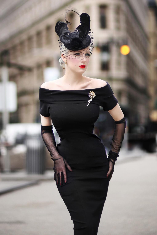 The Jazmin Pencil Dress in Ink Black