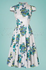 Hearts and Roses Blue Floral Swing Dress 102 59 21734 20170503 0009w