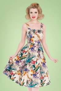 Hearts and Roses Tropical Floral Swing Dress 102 57 21736 20170503 0013