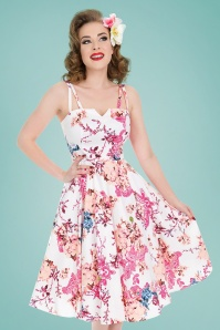 Hearts and Roses Pink Floral Swing Dress 102 59 21739 20170503 0016