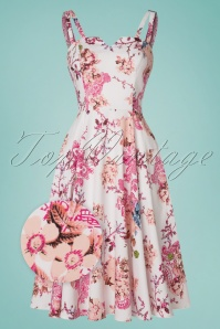 Hearts and Roses Pink Floral Swing Dress 102 59 21739 20170503 0013wv