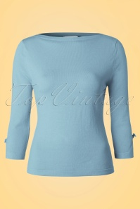 50s Addicted Sweater in Baby Blue