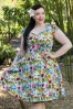 Lady Voluptuous Floral Butterfly Swing Dress 102 39 21789 2W