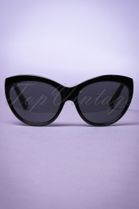So Retro Big Cat Sunglasses in Black 260 10 22094 20170505 0003w