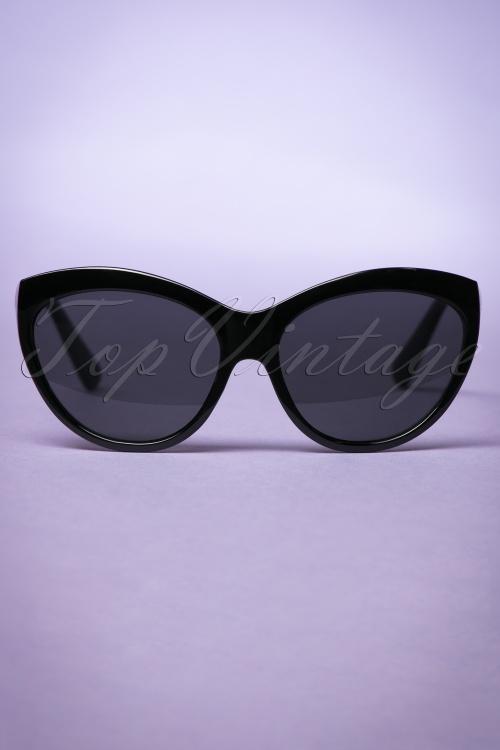 So Retro Big Cat Sunglasses in Black 260 10 22094 20170505 0003w