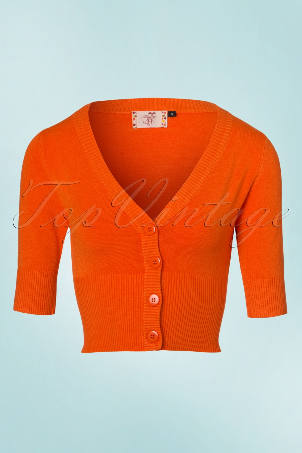 Küchengrundriss 50s cardigan in orange