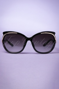 50s So Retro Milano Sunglasses in Black