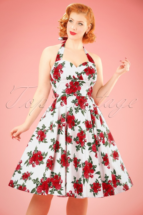 Bunny Halter Swing Dress with Roses 102 59 10972 20140616 0009W