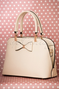 La parisienne Beige Bow Handbag 212 52 22028 05082017 007W