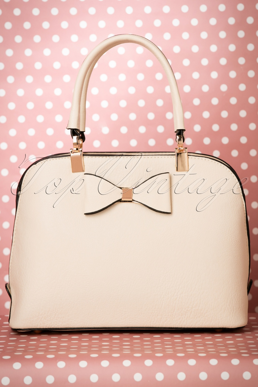 Retro Handbags, Purses, Wallets, Bags 60s Betty Bow Handbag in Beige £38.37 AT vintagedancer.com
