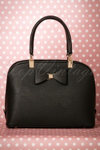 60s Betty Bow Handbag in Black