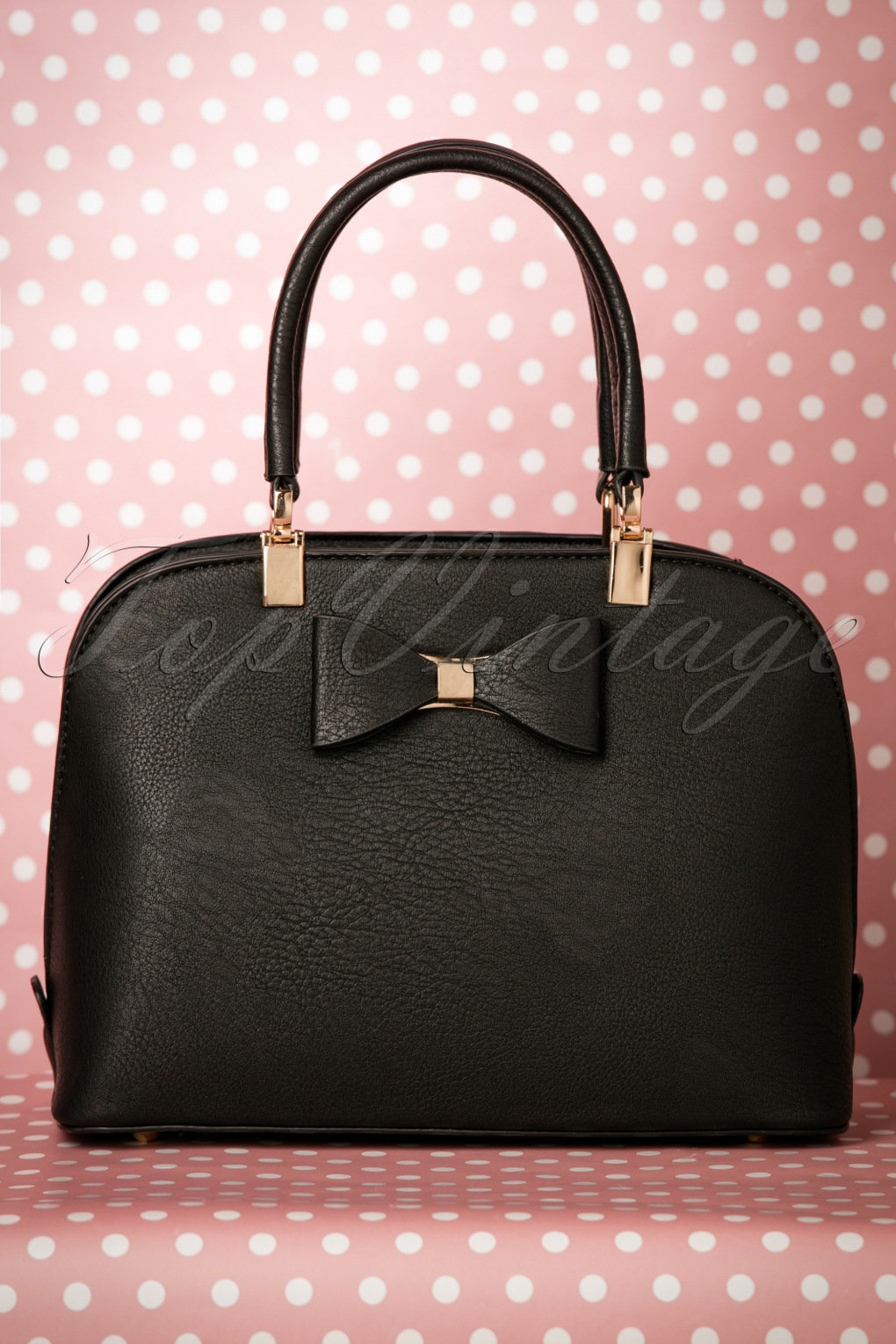 Retro Handbags, Purses, Wallets, Bags 60s Betty Bow Handbag in Black £38.37 AT vintagedancer.com