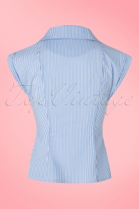 Dancing Days by Banned Willows Top in Blue White Stripes 112 39 20957 20170508 0013w