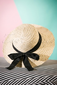50s Penelope Bow Hat in Natural