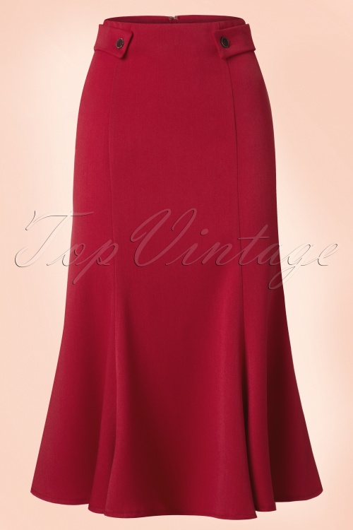 Dancing Days by Banned Elegance Pencil Skirt in Red 120 20 20931 20170508 0004w