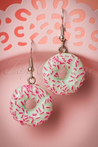 50s Donut Drop Earrings