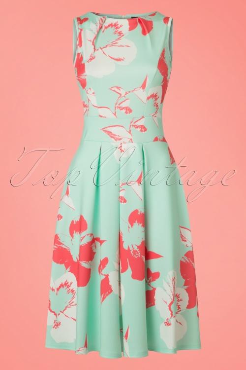 Vintage Chic Mint Green Marcella High Summer Dress 102 49 22079 20170510 0002w