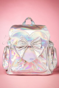 60s Nyla Backpack in Holographic Silver