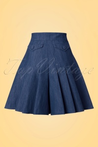 Miss Candyfloss Navy Wide Shorts 130 31 20620 20170510 0006w