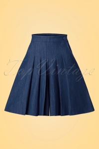 50s Vivian Wide Leg Shorts in Navy